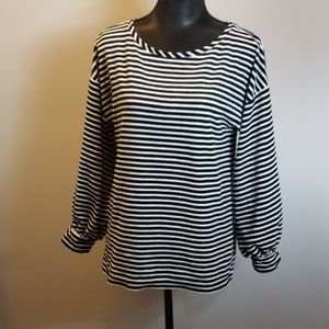 LOFT Tops - Velour striped Loft top size medium